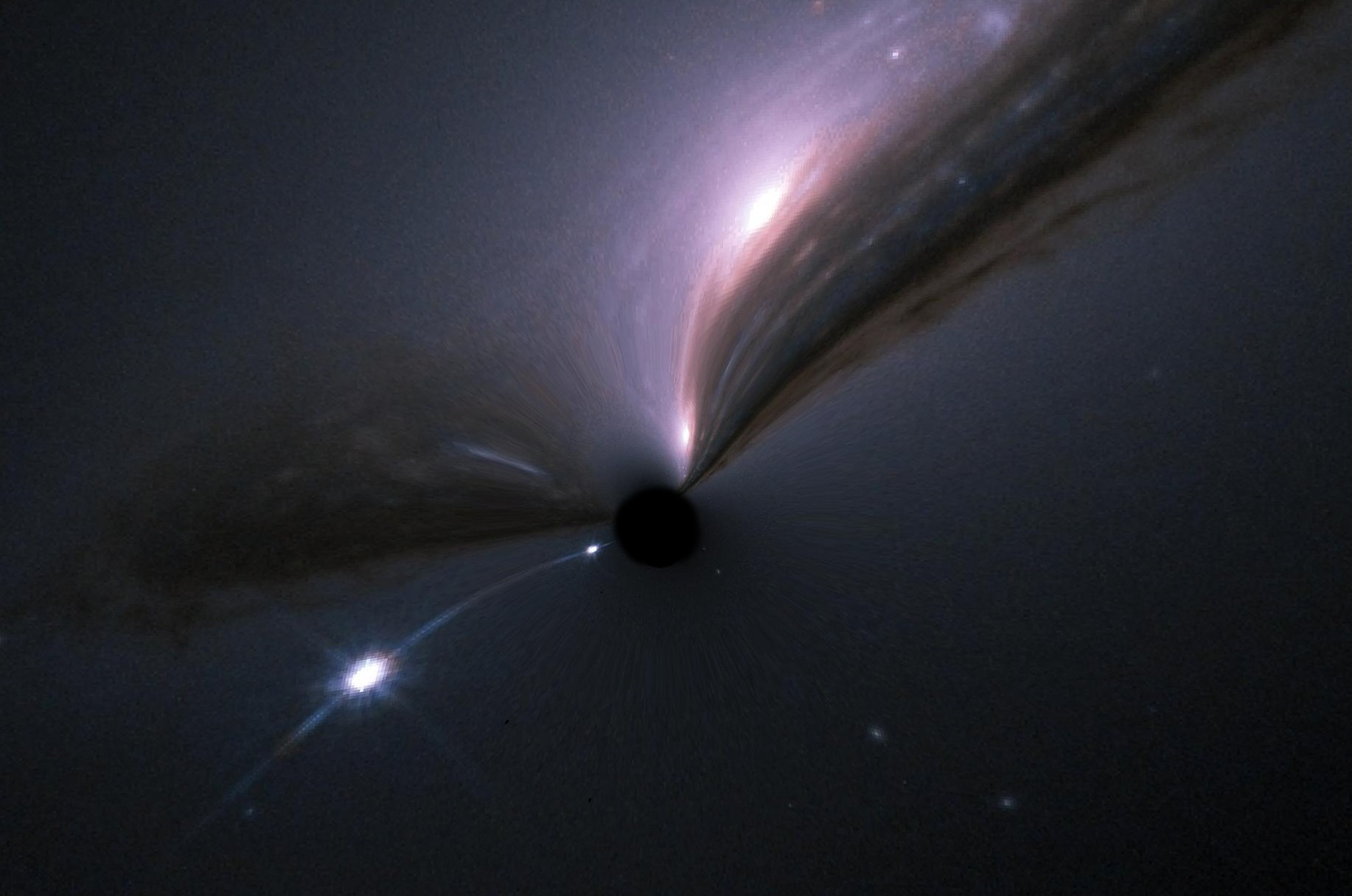 A supernovae as it would be lensed by a black hole